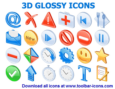 3D Glossy Icons Toolkit is an out-of-the-box portfolio of icons for designers.