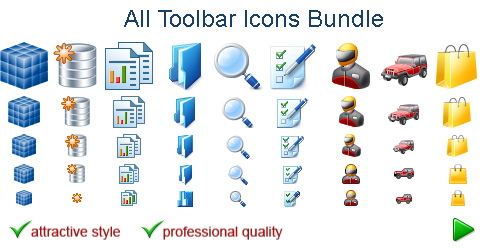 toolbar icons bundle