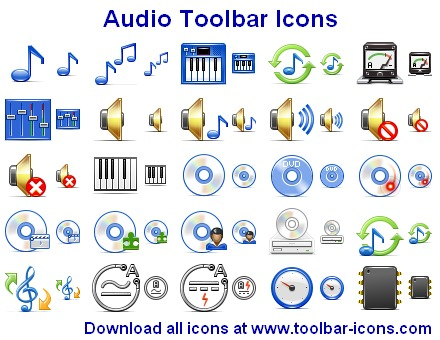 Click to view Audio Toolbar Icons 2013.1 screenshot