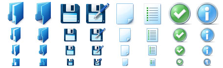 Basic Toolbar Icons Screenshot