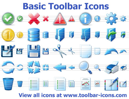 Click to view Basic Toolbar Icons 2015.1 screenshot