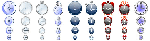Clock Toolbar Icons