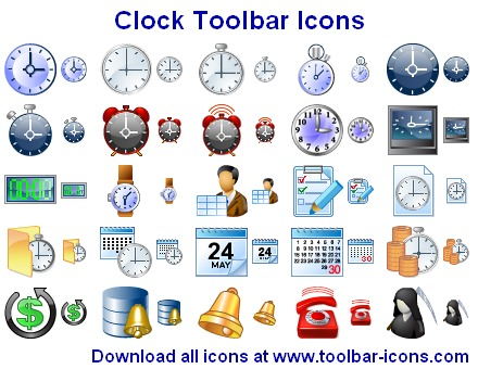 Click to view Clock Toolbar Icons 2013.1 screenshot