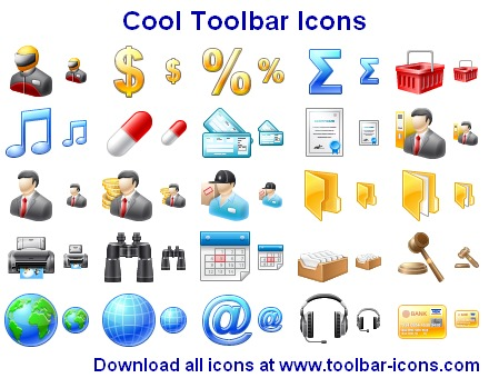 Click to view Cool Toolbar Icons 2011.2 screenshot