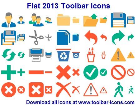 icons toolbar: