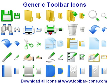 Generic Toolbar Icons screenshot: stockicons,stock,icon,icons,ico,collection,icone,generic,copy,paste,save,design,image