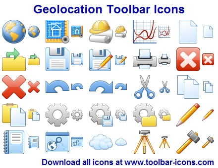 Geolocation Toolbar Icons