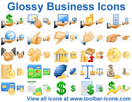 Click to view Glossy Business Icons 2011.3 screenshot