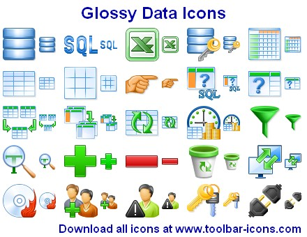 Click to view Glossy Data Icons 2011.4 screenshot