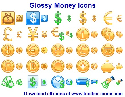 Glossy Money Icons full screenshot