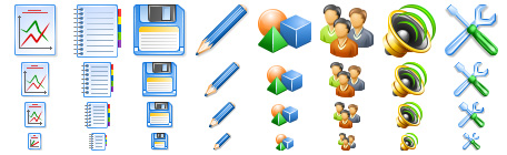 Glossy Toolbar Icons
