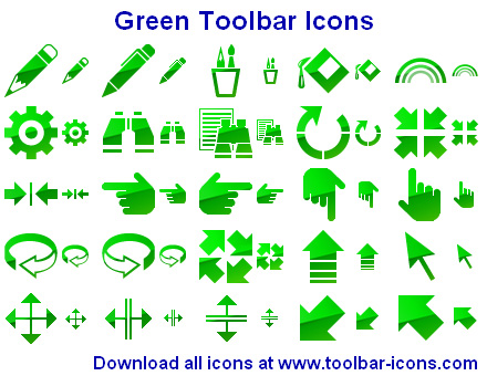 Green Toolbar Icons full screenshot