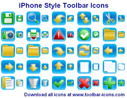 Click to view iPhone Style Toolbar Icons 2012.1 screenshot