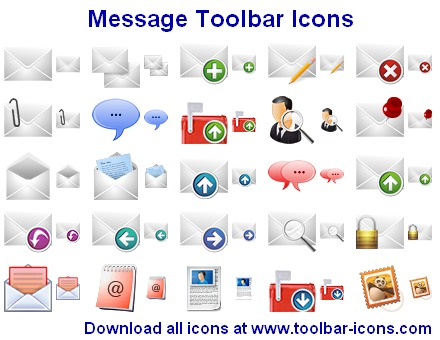 Click to view Message Toolbar Icons 2011.2 screenshot