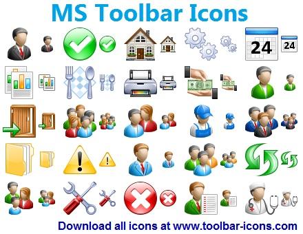 Windows 7 MS Toolbar Icons 2013.3 full