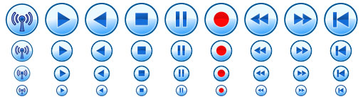 Multimedia Toolbar Icons