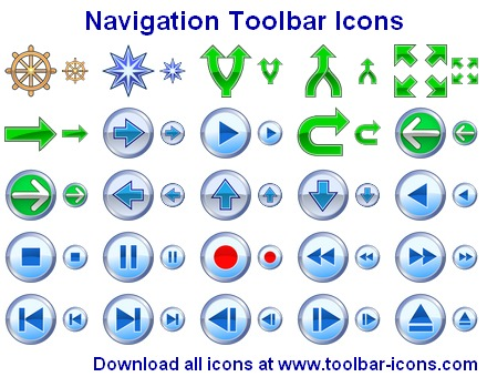Navigation Toolbar Icons Screen shot