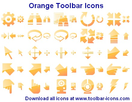 Windows 7 Orange Toolbar Icons 2013.1 full