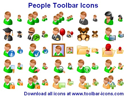 People Toolbar Icons