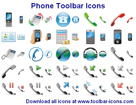 Click to view Phone Toolbar Icons 2011.3 screenshot