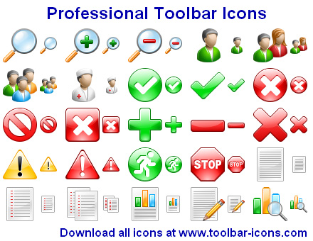 Click to view Professional Toolbar Icons 2012.3 screenshot