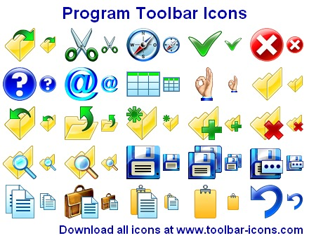 Programm Toolbar Icons