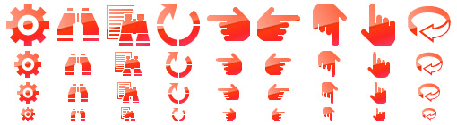 Red Toolbar Icons