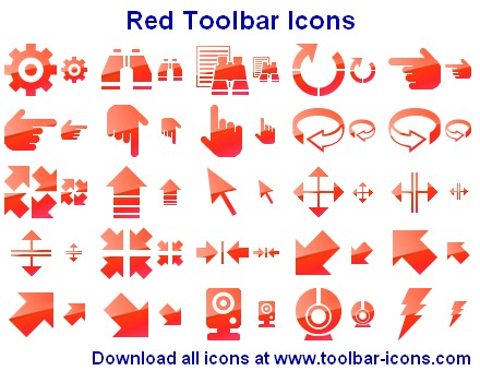 Red Toolbar Icons full screenshot