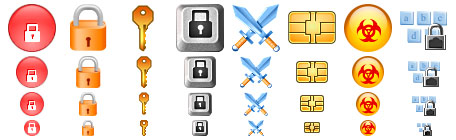 Security Toolbar Icons Screenshot