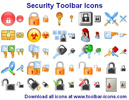 Click to view Security Toolbar Icons screenshots